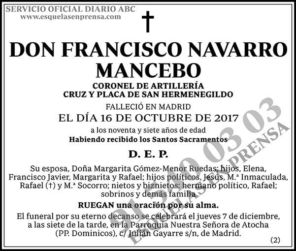 Francisco Navarro Mancebo